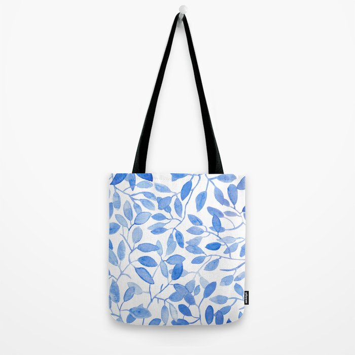 Watercolor Leafs Tote Bag