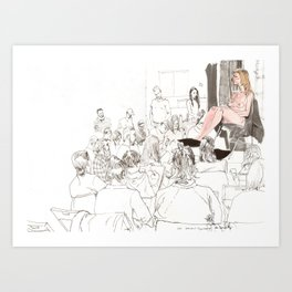 Figure Drawing, 105 Art Print