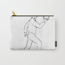 Retro Waiter Running Serving Coffee Drawing Carry-All Pouch