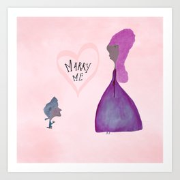 marry me Art Print