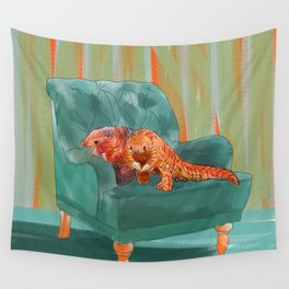 animals in chairs #5 the Pangolin Wall Tapestry