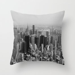 New York City Black and White Throw Pillow
