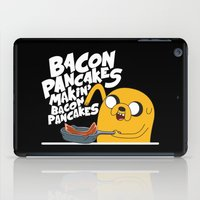 finn and jake iPad Cases featuring Finn & Jake Makin Bacon Pancakes by E30M52B25