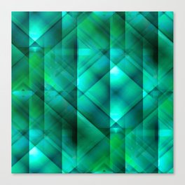 Facets of the Stone (emerald) Canvas Print