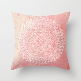 Pink Mandala Throw Pillow