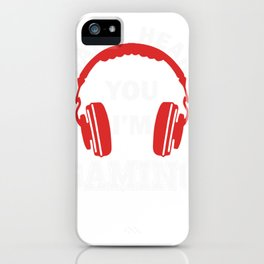 Video Gaming Gift Gamer Headset  Design iPhone Case