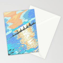 Rowing at dawn Stationery Cards