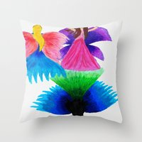 fairies Throw Pillows featuring Fairies  by MandiMccl