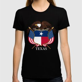 Texas flag and eagle crest concept T-shirt