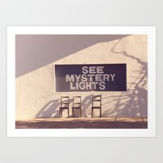 See Mystery Lights - Marfa, Texas Art Print