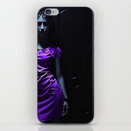 Girl in Purple iPhone Skin