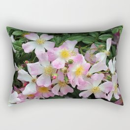 Pink, White and Yellow Blossoms Rectangular Pillow
