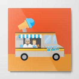 Breaking tradition - Walt and Jesse make ice cream Metal Print