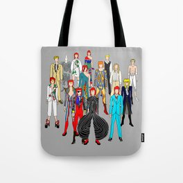 Gray Heroes Group Fashion Outfits Tote Bag
