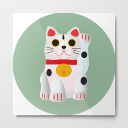 Lucky cat Metal Print