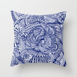 Waiting for the Wash Throw Pillow