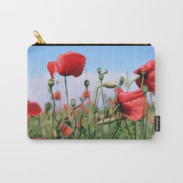 poppy flower no13 Carry-All Pouch