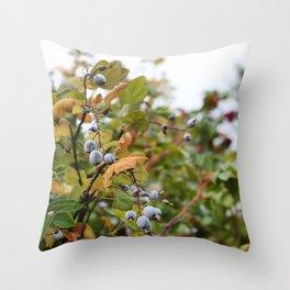 Smoky Berries Throw Pillow
