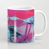 marx Mugs featuring Flora Celeste Agate Lotus  by Meteora