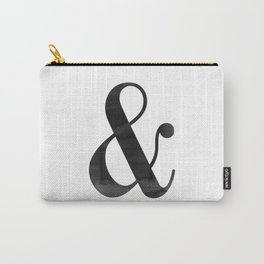 Ampersand And Sign Ampersand Print Ampersand Poster Scandinavian Typography Modern Minimalist Carry-All Pouch