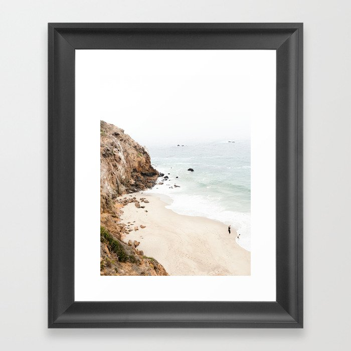Malibu California Beach Framed Art Print by scissorhaus