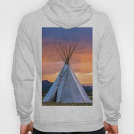 Southwest Teepee Sunset With Bird Hoody