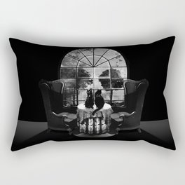 Room Skull B&W Rectangular Pillow