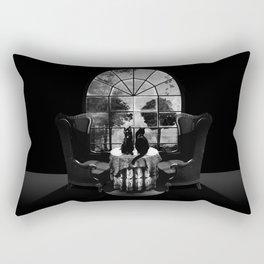 Room Skull B&W Rectangular Pillow