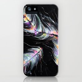 Neon Feathers iPhone Case