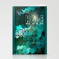 bible Stationery Cards featuring Anchors- Bible Verse by Mermaid94