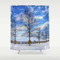 kentucky Shower Curtains featuring A Kentucky Christmas by ThePhotoGuyDarren