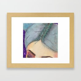 Eyebrows & Glitter Roots on Fleek! Framed Art Print