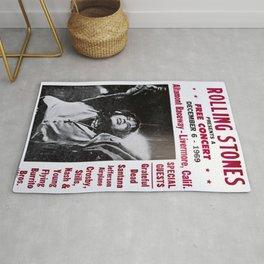 Vintage Rolling Stones free concert at Altamont Raceway, Livermore, California, December 6, 1969 Rug