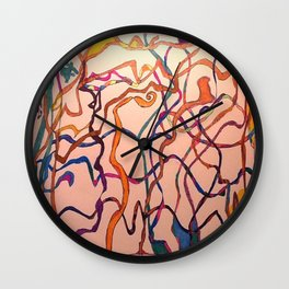 Lives Pathes Crossing Wall Clock