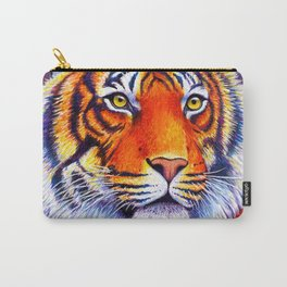 Colorful Bengal Tiger Portrait Carry-All Pouch