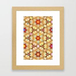 kaleidoscope - releitura de um jardim Framed Art Print