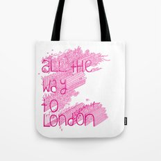 All the Way to London Tote Bag