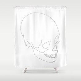 Skull_ Shower Curtain