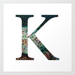 """Initial letter """"K"""" Art Print"""
