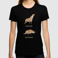 Hyena Lowena Black MEDIUM Womens Fitted Tee