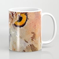 owl Mugs featuring Owl by contemporary