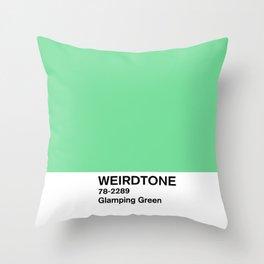 Glamping Green Throw Pillow