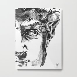Michelangelo's David Metal Print
