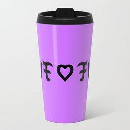 Funny love fuck ambigram Travel Mug