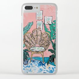 Wicker Shell Chair in Tropical Interior Clear iPhone Case
