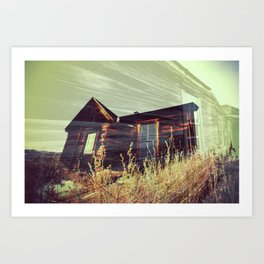 Ghost Town - House in the Field Art Print