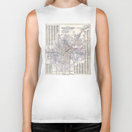 Los Angeles - Map of the railway systems - 1906 Biker Tank