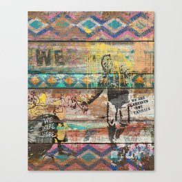 Art isn't a Crime (Molotov Cocktail) Canvas Print