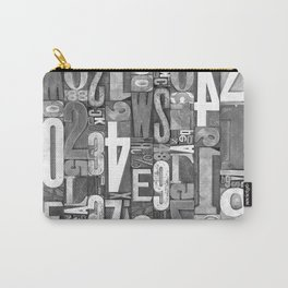 Lettepressed B&W Carry-All Pouch