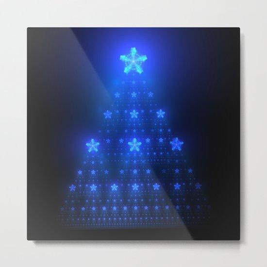 Blue Christmas Metal Print